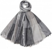 K-B6.2 S002-001 Soft Square Scarf Blocks Grey 140x140cm