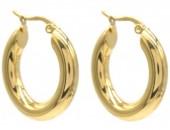 B-D22.1 E012-001G S. Steel Hoop Earrings 25mm
