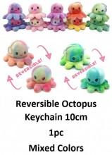 Z-D2.4 KY2109-001 Reversible Octopus Keychain 10cm - Tie Dye  - 1pc