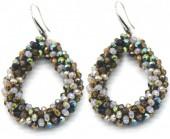 A-B16.2 E007-001 Facet Glass Beads 4.5x3.5cm Multi Color