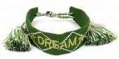 C-D6.1 B2030-009 Woven Bracelet DREAM Green