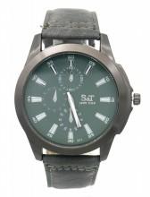 A-B21.3 W523-011E Quartz Watch with PU Strap 45mm Grey