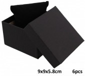 L-F6.1 Giftbox for Watch - Bracelet with Cushion 9x9x5.8cm Black 6pcs