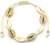 C-C9.2 B2001-032 Bracelet with Shells Gold-Beige