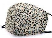 G-D2.1 FM042-SKA508 - Cotton Fashion Mask with Room for Filter Washable - Leopard Blue
