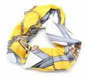 S-G1.4 H305-012 Scrunchie Print Yellow