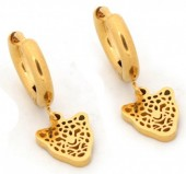 A-A10.1 E1842-010 Stainless Steel Earrings Leopard Gold 1x2cm Charm