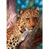 R-G7.1 XL4002  Diamond Painting Set Leopard 40x30cm