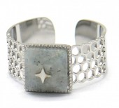 D-F19.1 R2033-003S S. Steel Ring Stone and Star Adjustable
