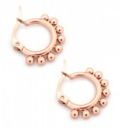 C-D7.2 E1264-004SS Stainless Steel Earrings with Dots 10mm Rose Gold