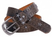 G-A1.1  FTG-063 Leather with PU Belt Stars Bronze 105cm