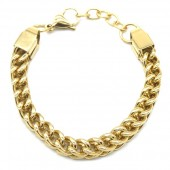 A-D8.1  B126-005 Stainless Steel Chain Bracelet Gold