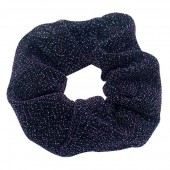 S-D7.1 H305-045M Glitter Scrunchie Purple-Blue