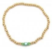 B-B5.2 B2142-004AG S. Steel Elastic Bracelet Green Adventurine
