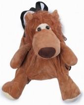 Y-B4.1 BAG416-001B Plush Backpack Lion 35x15 cm