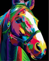 Y-D4.5 MS7501 Paint By Number Set Horse 50x40cm