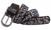 I-C18.1 FTG-072 PU with Leather Belt Snake with Studs 105cm Brown