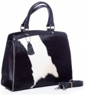 T-C1.2  BAG-795 Luxury Leather Bag 36x30x12cm Black with mixed color Cowhide