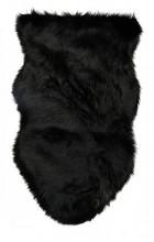 Y-F1.5 Fake Fur Soft Sheepskin Black 90x55cm