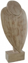 Q-F8.1 #50035 Wooden Necklace Display 42x22x14cm White