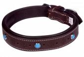 G-E16.1 MTDC-004 Leather Dog Collar Brown L 58x2.5cm