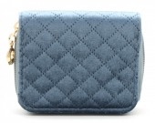 X-G2.2 WA321-003 Small Velvet Wallet Blue