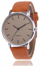 A-A18.2 Watch with Glitters and PU strap 40mm Brown