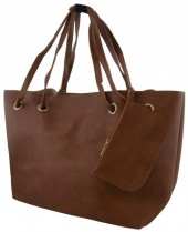 Y-F3.5 BAG535-004C PU Shopper 50x30x16cm Brown