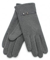 S-D6.1 GLOVE403-004F Soft Gloves with PU Strap and Crystal Grey