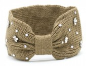 T-D3.1 H401-003C Headband with Crystals Light Brown