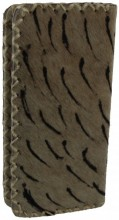 S-A5.3 Leather Wallet with Cowhide Striped 21x10x3cm