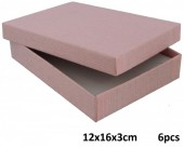 Z-B1.5 Giftbox for Necklace-Earrings-Ring 12x16x3cm Pink  6pcs