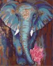 Y-C6.2 MS7886 Paint By Number Set Elephant 50x40cm