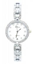 A-F6.5 W523-004 Quartz Watch Metal with Crystals Silver