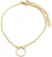 B-D2.5 B301-020G S. Steel Bracelet Bars with 10mm Circle Gold