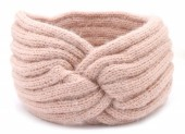 S-H7.4 H401-027B Soft Knitted Headband Pink