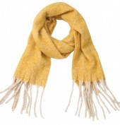 Z-D2.5 SCARF405-056C Soft Winter Scarf Yellow