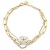 D-E22.3 B2033-013G Stainless Steel Bracelet Gold