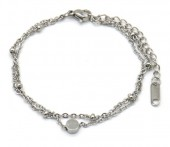 D-D20.1 B019-005 Layered S. Steel Bracelet Silver