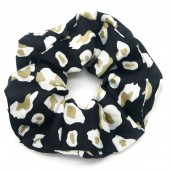 S-A3.1 H305-053A Scrunchie with Animal Print Black
