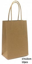 T-F8.2  PK525-001B Paper Giftbag 17x12cm Brown 12pcs