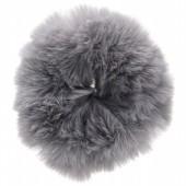 S-A6.4  H414-004C Fluffy Scrunchie Grey