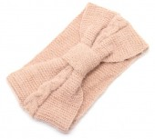S-H6.3  H401-024D Soft Knitted Headband Pink