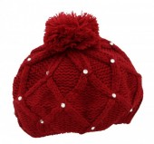 T-H5.2 Beanie with Crystals Red