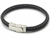 F-D9.2 B1642-005B S. Steel with Leather Bracelet 21cm Brown