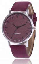 A-B6.6  Watch with Glitters and PU strap 40mm Purple