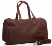 T-G8.2 BAG-921 Luxury Leather Travel-Sport Bag 47x32x16cm Brown