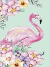 S-J8.1 Q012 Diamond Painting Set Flamingo 30x20cm