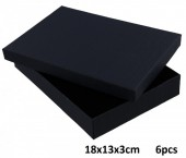 Z-B3.6 Giftbox for Jewelry 18x13x3cm Black    6pcs
