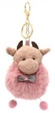 S-C4.3  KY2035-020B Keychain Cow 10x6cm Pink